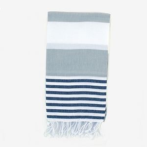 Turkish Towel - Grey Black